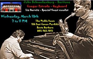 keyboard player Cougar Estrada and Sax player John Schnackenberg